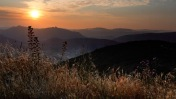 A sunset in the Cathar region of the Pyrenees