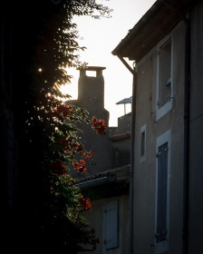 Late afternoon light in a lane in Lourmarin, Provence